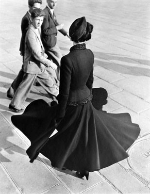 "Renee, ""The New Look of Dior"" - Place de la Concorde - Paris - August 1947 - by Richard Avedon"