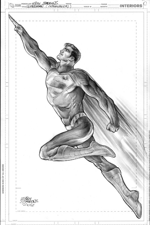 williambeyer:  Superman, Commission for NYCC by ~eddybarrows