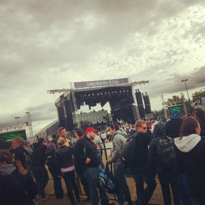Rain or Shine #sonicboom #music #modernrockfestival #2012 #edmonton #yeg #outdoor #concert (Taken with Instagram)