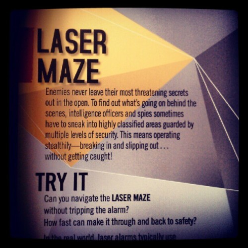 09082012 #Discovery #TimesSquare // #Spy: The #Exhibit // #Laser #Maze // So #Fun! @khaosnrg was better than me hahaha :) // #NYC #DiscoveryTSX #Museum #Interesting #Espionage (Taken with Instagram at Discovery Times Square)