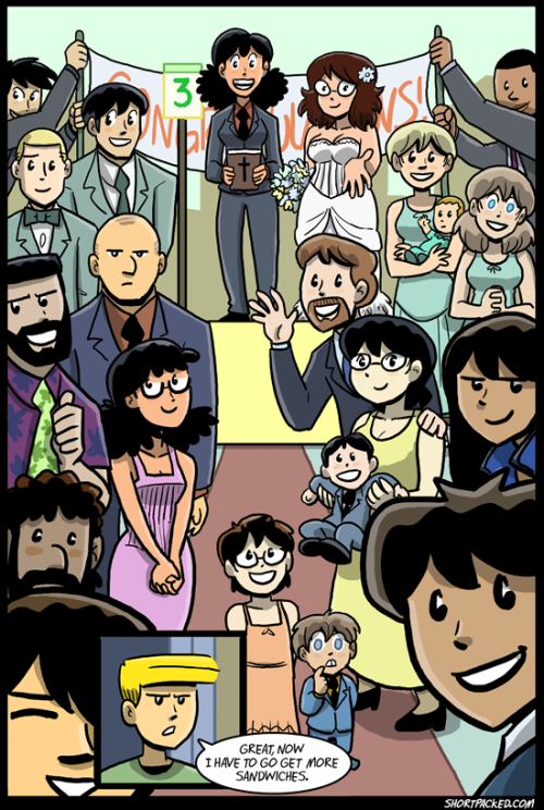 As of today, I've been doing webcomics for fifteen years. Let's celebrate with a wedding.