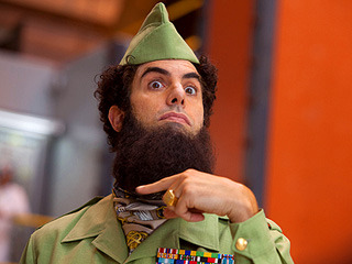 THE DICTATOR is actually worse than you've heard. Hacked within an inch of it's life yet it still drags on forever. When did all of Cohen's bits turn into painful elbows to the stomach? Anything that might have been half way clever is delivered like a lead frying pan to the face.
