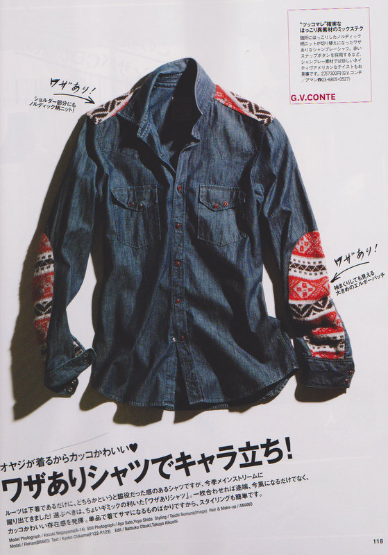 MAURO BONAMICO FASHION DESIGNER GV CONTE SHIRTS - MEN'S CLUB MAGAZINE JAPAN