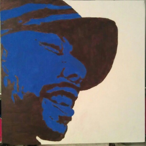 "Just finished a new painting ""Be"" #Common #art  (Taken with Instagram)"