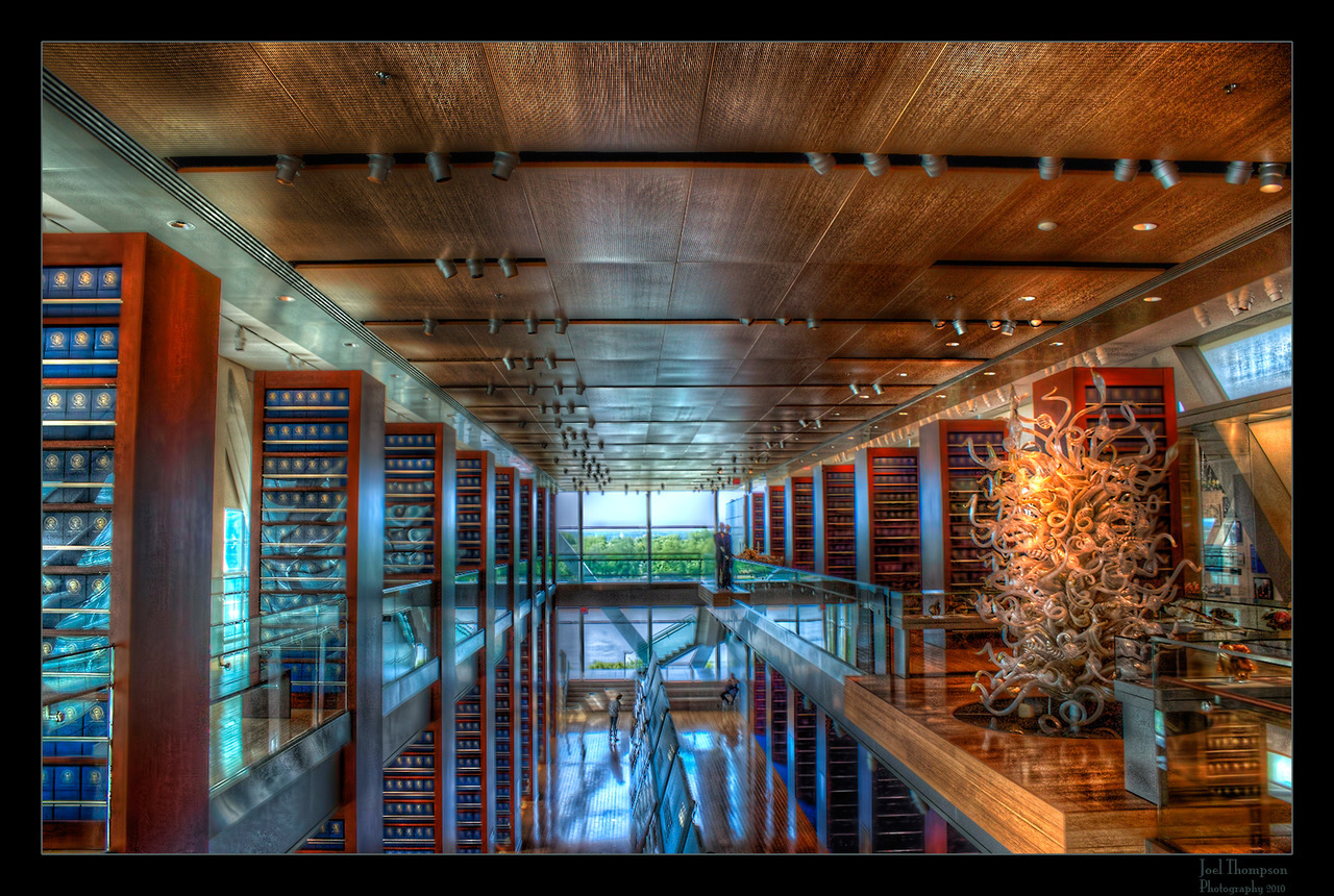 Clinton's Library Interior by joel ht