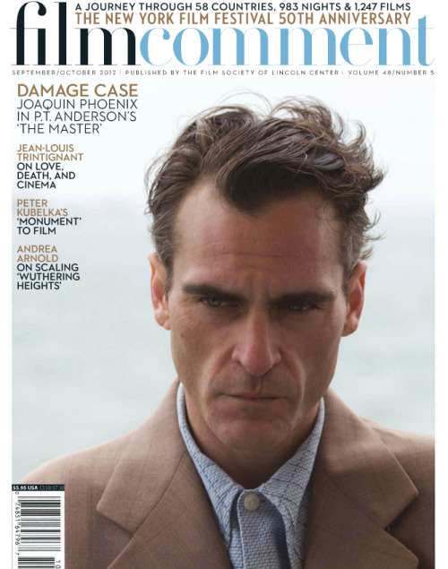 Joaquin Phoenix on the cover of the new Film Comment
