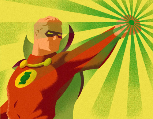 thehappysorceress:  Green Lantern Alan Scott by em Magic Monday