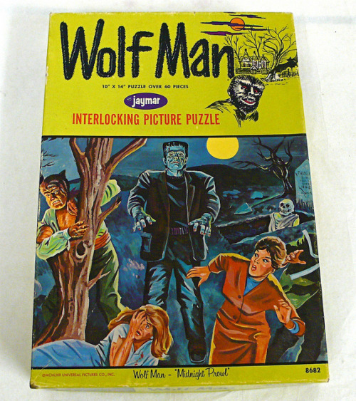 "Wolf Man puzzle - ""Midnight Prowl"" (1964)"