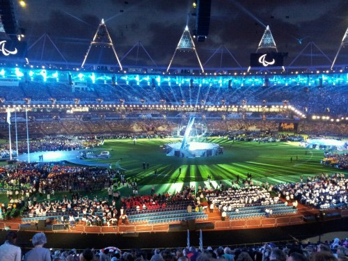 The paralympics closing ceremony in london was amazing. Overwhelming. Best birthday present yet! Nice one mum!