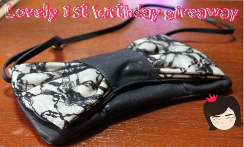 "lovelymeonlinestore:  Lovely turns 1 Giveaway!September 10 last year when Lovely started selling accessories. Closest Friends push her to open an Online Store on September 18, 2011 and the rest is history. My way of giving back to my Valued Customers is to give away this clutch/sling bag for free (Shipping with in the Philippines already included).Mechanics:1. ""Like our Page"" here: https://www.facebook.com/lovelymeonlinestore2. ""Like"" the photo of the Sling Bag.3. Comment your Name to the Photo. (Please make sure that you comment to the original photo I posted not to the shared photo of the contestants. here is the exact link: https://www.facebook.com/photo.php?fbid=383360601735980&set=a.308167095921998.72043.201436223261753&type=1&relevant_count=1)4. ""Share"" the Posted Photo of the bag with the comment quoted phrase ""HAPPY 1st BIRTHDAY LOVELY!, I want to win this Sling Bag. Like their page here: https://www.facebook.com/lovelymeonlinestore.""On the 18th of September 2012. I will raffle the names of those who shared the photo.How will I raffle your names?~>Your raffle number will corresponds to the sequence of the comments. Ex. the first person to comment their name will get a raffle number of ""1"". So you should make sure that you are commenting to the photo posted by Lovely exact link here:https://www.facebook.com/photo.php?fbid=383360601735980&set=a.308167095921998.72043.201436223261753&type=1&relevant_count=1 .~>I will be using http://www.random.org/ to generate a number.~>Who ever name matched to the generated number from the said website will win the Sling bag.Good Luck Lovelies! ~♥"