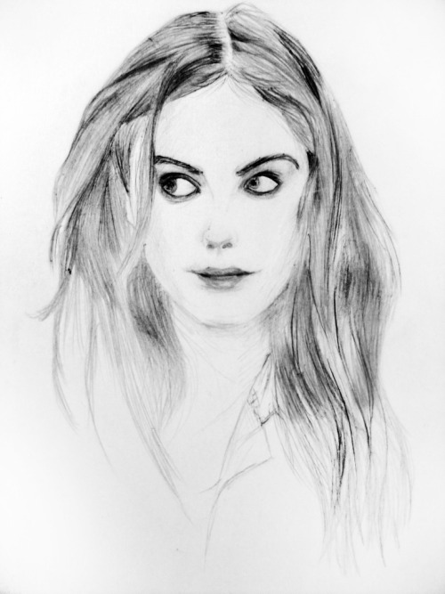 Old sketch of Kaya Scodelario.