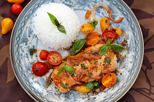 fattributes:  Sauté Pork with Tomatoes