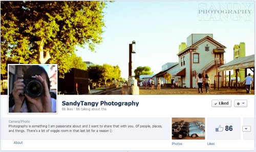 I made a Facebook page for my photography! Yaaaay! Have a gander and let me know what you think (: