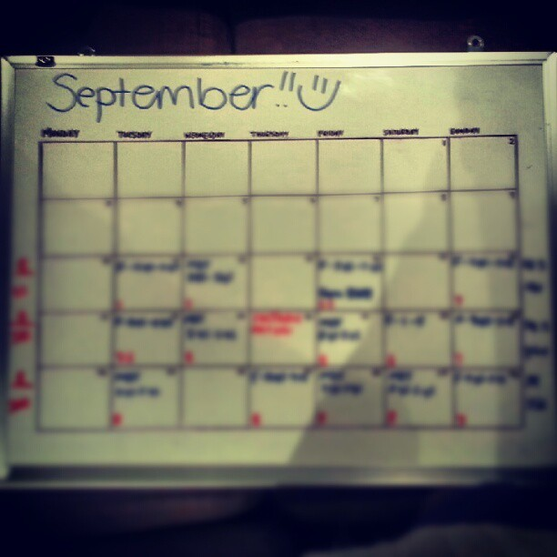 September schedule and budget :o stinge steve coming at ya :D haha #busy #work #budget #saving #september  (Taken with Instagram)