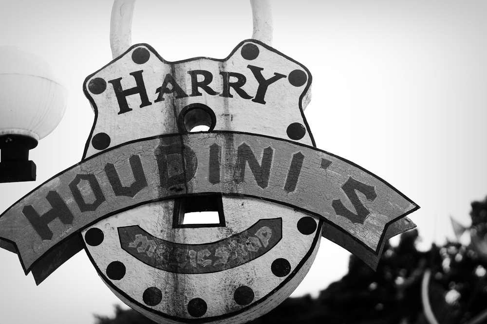 Harry Houdini's Magic Shop!I'm a sucker for Vintage signages!! I'm so inlove :>