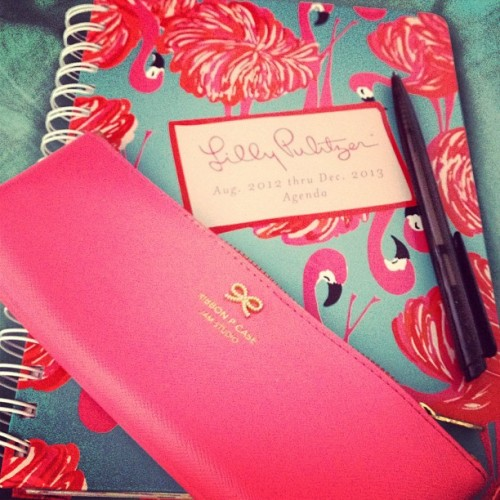 sparksandsequins:  Updating my agenda (Taken with Instagram)