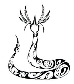 confused-lost-misunderstood:  Dragonair Tribal Tattoo