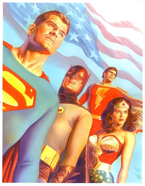 brianmichaelbendis:  The classic television superheroes by Alex Ross