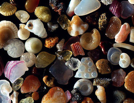 Sand, magnified by 250 times. Amazing