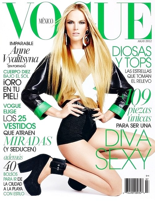 on-the-cover:  Anne V/Vyalitsyna - Vogue Mexico 2012