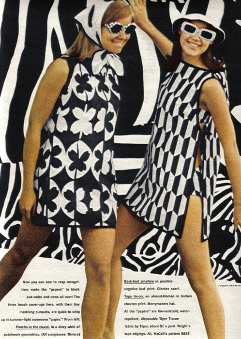"Mod fashion for girls, Seventeen magazine"" 1967."