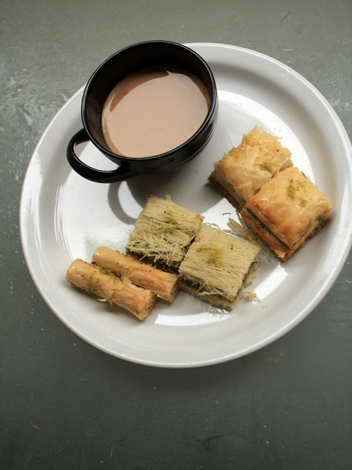 hot chaai and baklaava (by PC - My Shots@Photography)