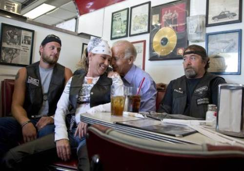 This weekend: Barack's Burly Bearhug, Biden's Biker Burlesque Biz.