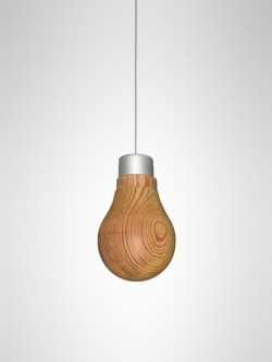 weandthecolor:  Amazing Product Design A wooden light bulb lamp by product and industrial designer Ryosuke Fukusada. The LED device is wrapped by a wafer-thin wooden shell. via: WE AND THE COLORFacebook // Twitter // Google+ // Pinterest