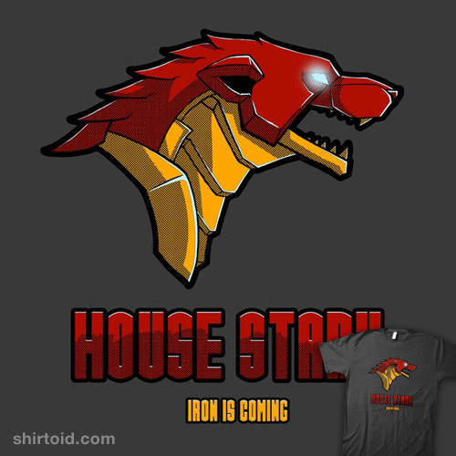 shirtoid:  House Stark by BrushRabbit is $10 today only (9/10) at RIPT Apparel
