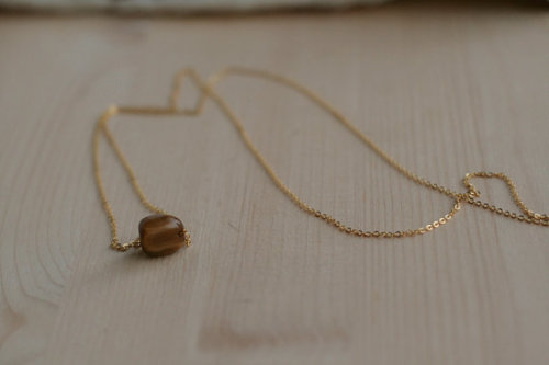 icefloe:  NUGGETS! Tigers Eye on gold plated chain, £8 in store now
