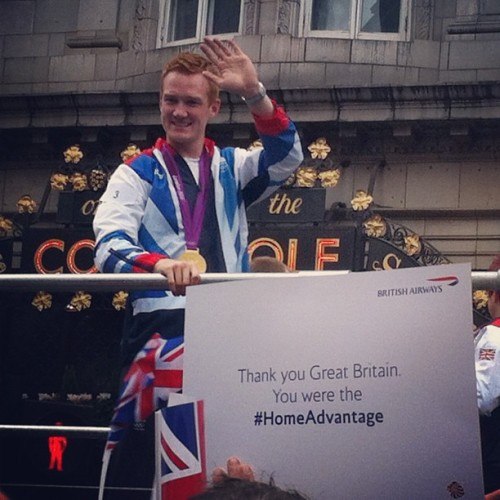 Greg Rutherford at the #olympicparade #london2012  (Taken with Instagram)