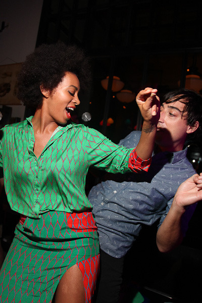 Solange Knowles and Ed Droste get down at Opening Ceremony's FNO partay. Let's be friends?