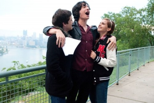 "bbook:  And like the best John Hughes films, Perks treats its characters appropriately. They are not annoyingly wise beyond their years, nor are they looked down upon. ""I set out to respect what young people go through right at eye level,"" Chbosky says. The subtle period setting was also deliberate. ""I wanted the movie to feel as absolutely timeless as possible. One of my favorite movies is Dead Poets Society. It takes place in 1959, but it could have taken place last year."" What is most surprising, however, is the treatment of Sam and Patrick, who under the control of any other auteur could have turned into stock Manic Pixie Dream Girl / Manic Pixie Dream Gay characters whose only role in the film is to guide young Charlie (played by Logan Lerman) into emotional maturity via their own quirks and precociousness. With Emma Watson and Ezra Miller in those roles, however, Sam and Patrick offer up more than the pretty looks of the actors portraying them. Watson's Sam is glorious and tragic, already full of regret at eighteen and striving to overcome the mistakes of her very recent past. In Patrick, Miller delivers a surprising confidence and a recognizable vulnerability, a combination not seen in most gay male characters, much less those still in high school. Stephen Chbosky Brings His Iconic The Perks of Being a Wallflower to the Big Screen"