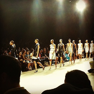 """Final walk @alexanderwangny! Such a fun show!"" -@WmagNora Keep up with all things Fashion Week."