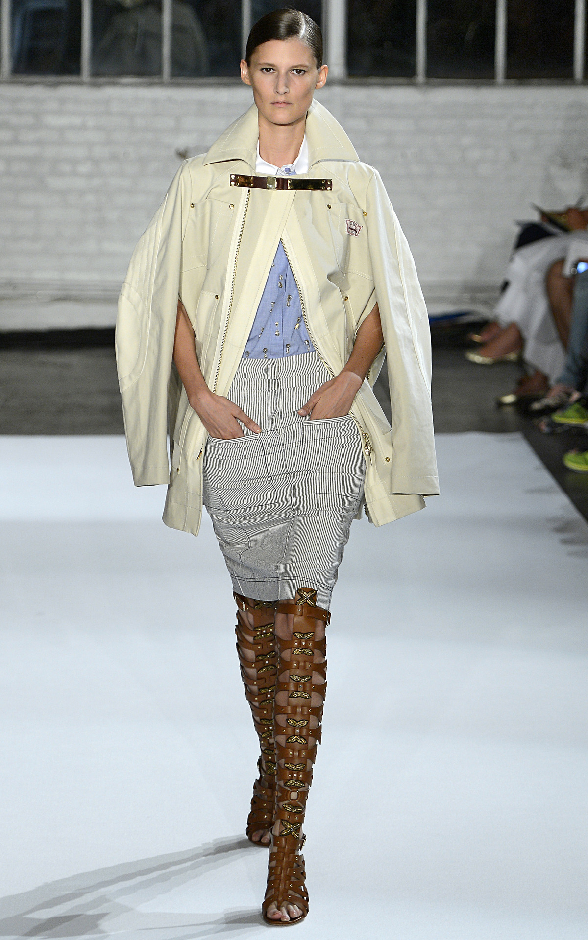Photo by firstVIEW Those boots. Altuzarra Spring 2013, New York. Watch the full show here.