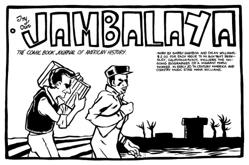 Promotional ad for Jambalaya #1 by Gabby Gamboa and Dylan Williams, 1995.