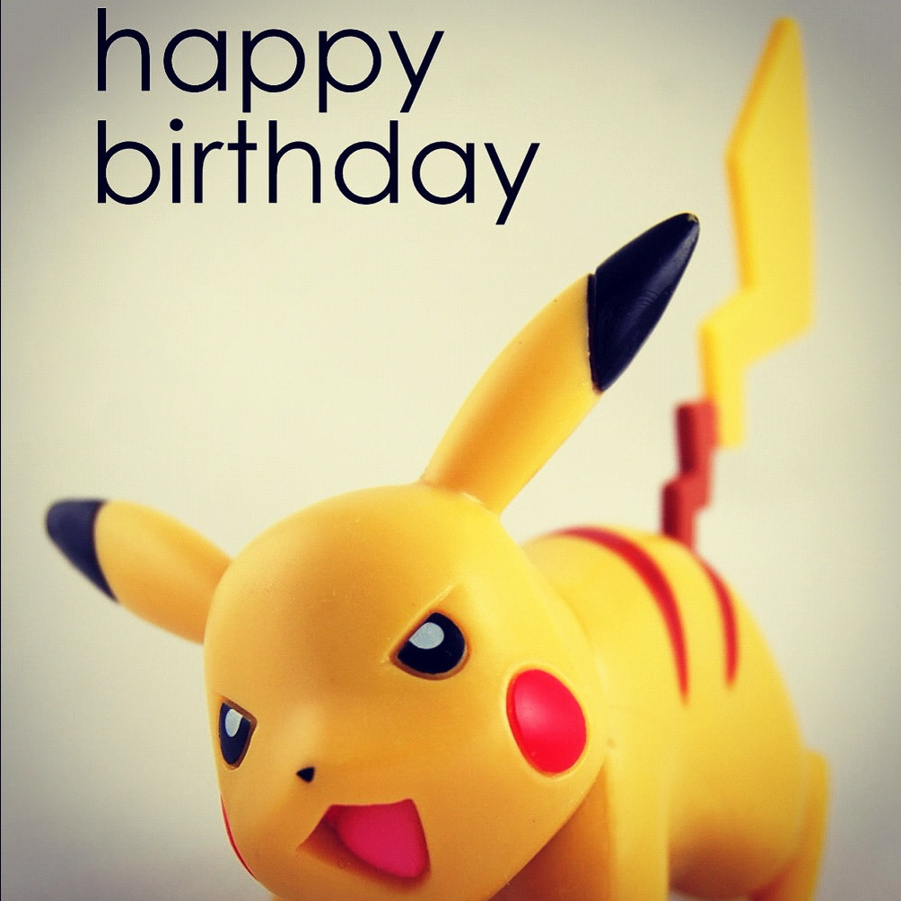 Celebrating my 24th BDAY, in style with my pal, Pikachu!