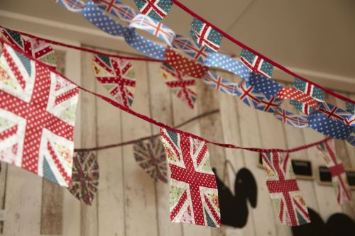 More lovely Union Jack bunting. Also available in heart-shapes.