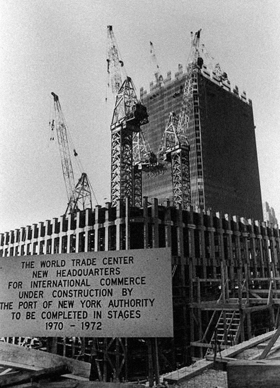 thats-the-way-it-was:  World Trade Center - New York City, 1970 Photo: Arthur Swoger/Getty