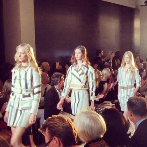 bergdorfgoodman: More of the Belstaff girls #nyfw (Taken with Instagram)