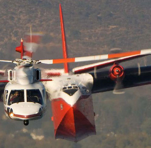 "xplanes:  ""Firewatch 76 leading the Martin Mars. Photo: Coulson Flying Tankers"" (via)"