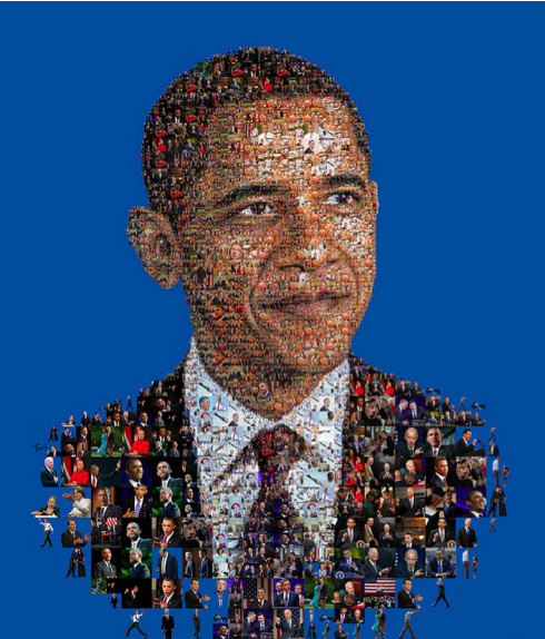Illustration of Barack Obama, by Charis Tsevis, for Huffington.