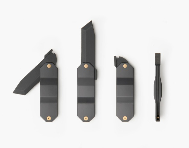 "SWISS ARMY ""Kacper Hamilton has designed a collection of tools influenced by the traditional Japanese 'Higonokami' for the Swiss ski company Zai. Native to Japan, Higonokami is a folding pocket knife described as a 'living fossil' within the world of knives due to its unchanged design and production technique since its creation in the late 19th century."" - Zai Higo via Bobby Sattler via Kacper Hamilton via Zai Higo"