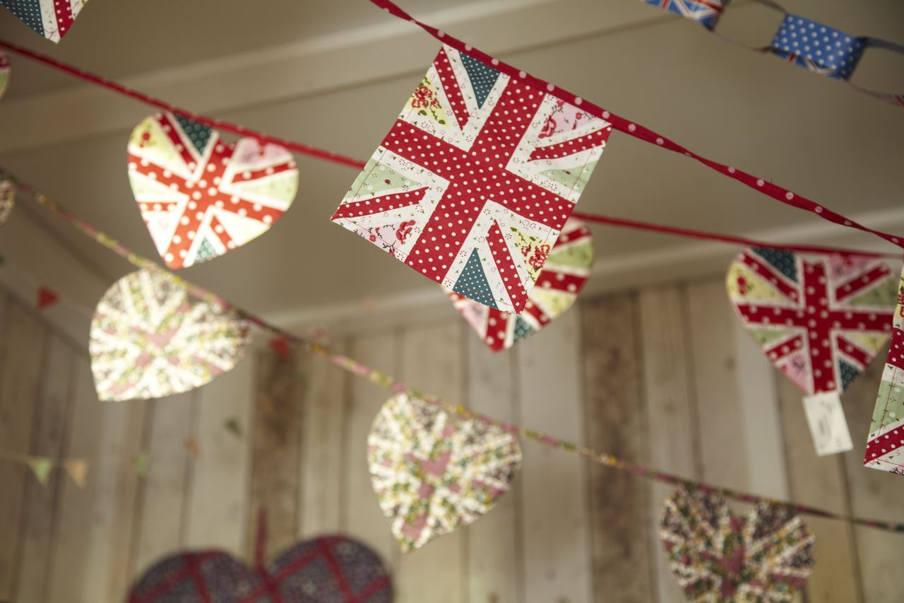 Our Union Jack fabric bunting. Full range can be seen here.