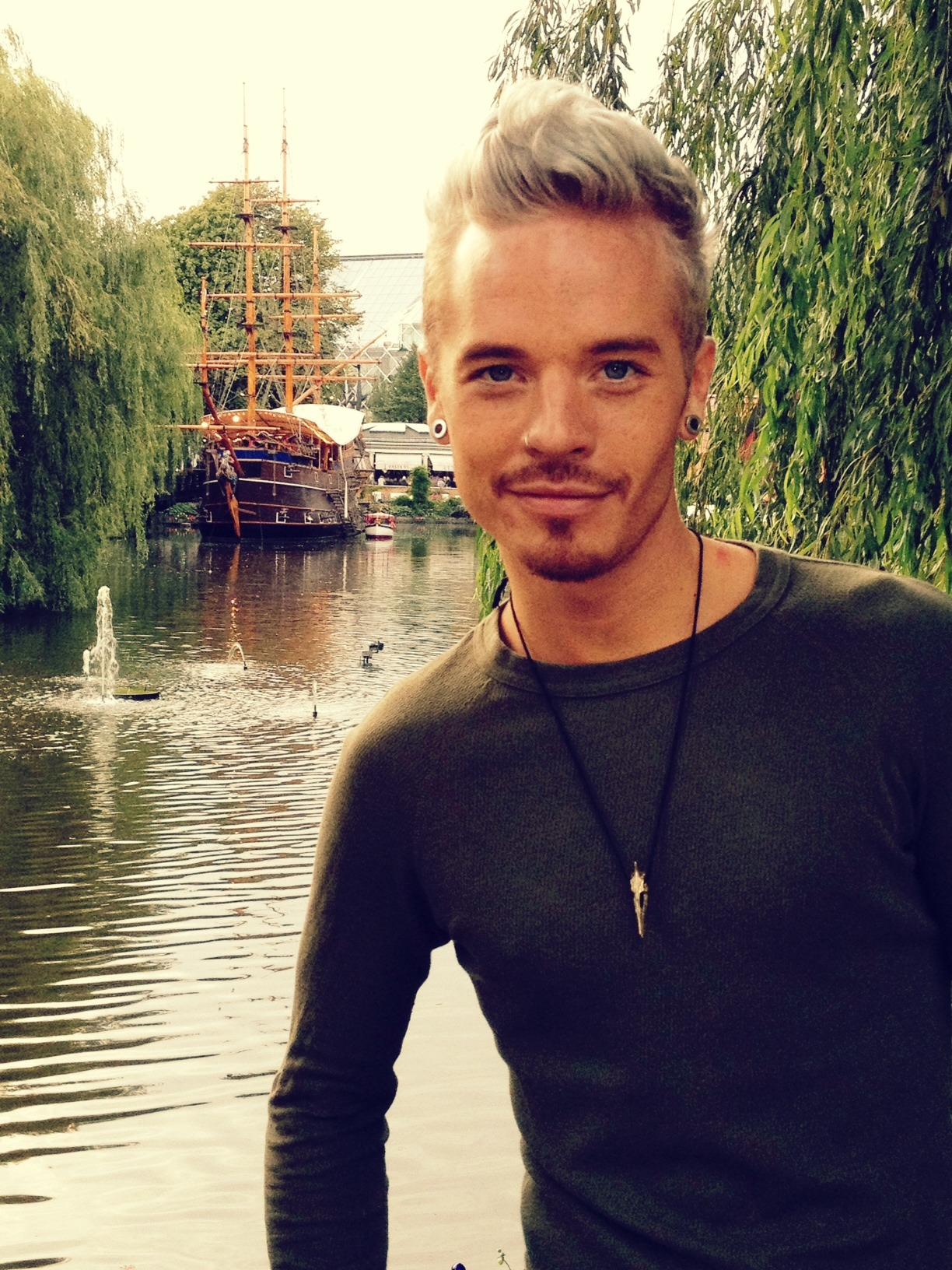 tommyatemyheart:  adamfuckmelambert:  adommazing:  Picture from Sauli's blog… HOW CAN HE EVEN…. Okay I give up <33333333  anyone noticed his hickey/claim mark on his shoulder hsfjksdhfkdjshfd omg guys i cant be the only one who finds this fucking hottt *-*  ^Oh, you mean Adam's love bite? The mark he left on Sauli to show who he belongs to? Yes, I find that quite hot.  'Before you go…' Adam breathed softly against Sauli's neck. He began to run his tongue down his boyfriend's neck and stopped at his shoulder blade, where he began to kiss gently, teasing Sauli a little. The Finnish man moaned in longing. 'More?' Sauli could hear a grin in Adam's voice, and he whimpered in approval. Adam began to kiss him deeply, getting carried away a little and using his tongue and teeth. 'Oh, my gawd…' Sauli closed his eyes in satisfaction, 'I've fallen in love with a vampire!' 'Hmmm?' Adam pulled away from his boyfriends shoulder. He gave a chuckle, 'Oops…my bad.' 'What?' Sauli grinned that cheeky little grin of his that Adam loved so much, staring into his partner's blue eyes. 'I think I've given you a new tattoo for your trip…' Adam grinned, 'oh well…at least they'll know you're mine…' ((And that's about as saucy as my fics will ever get)) XD