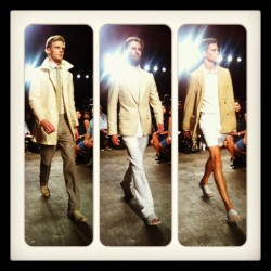 Cool, crisp and just that little bit 70s at Billy Reid's S/S13 collection #nyfw #attheshows  (Taken with Instagram)