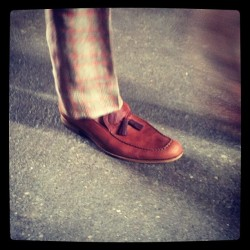 A elegant long-toed tassle loafer at Billy Reid # #attheshows  (Taken with Instagram)