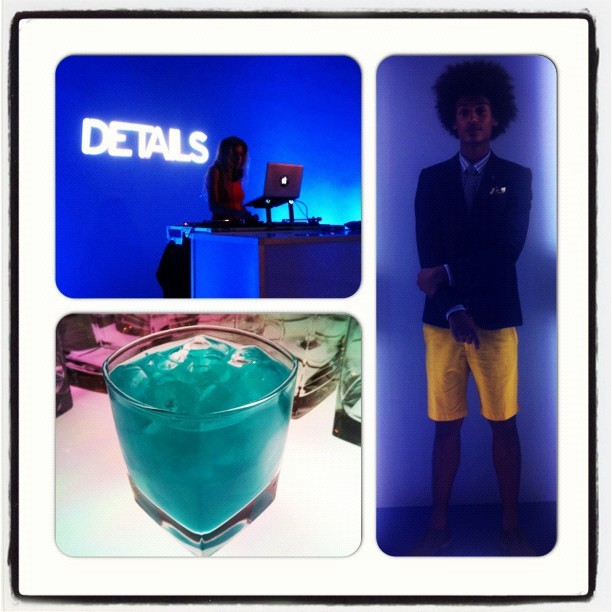 Blue thinking at the Details Magazine NFW event.Great tunes being spun by @mrporterlive favorite Ms Chelsea Leyland. #nfw #mrporterlive #attheshows  (Taken with Instagram)