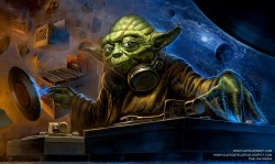 'Hrrrrmmmm….Sick beats, listen you must!' - DJ JEDI MIX MASTER YODA  Found on Reddit.com.