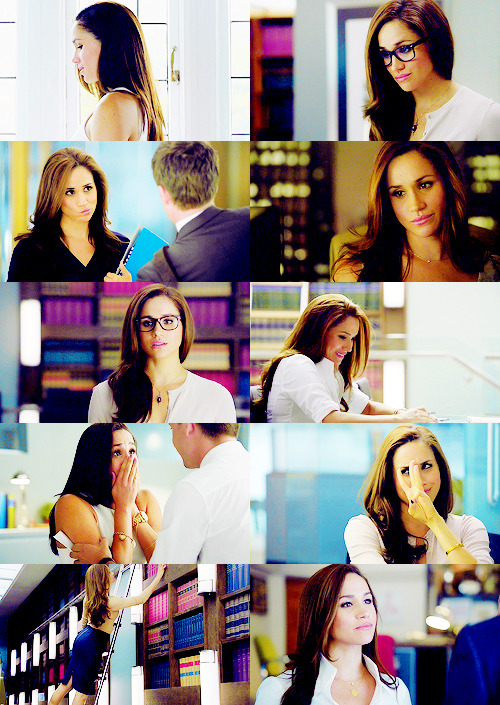 oh for the love of God, Rachel Zane. Rachel Zane in glasses. In any scene. She's perfect. There must be a specimen of human like this in the real world.